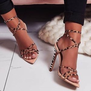 Leopard And Zebra Print Heels